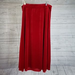 Lane Bryant Skirt Sz 18/20 Red Velour